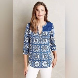 Anthropologie Belmar Peasant Top by Porridge